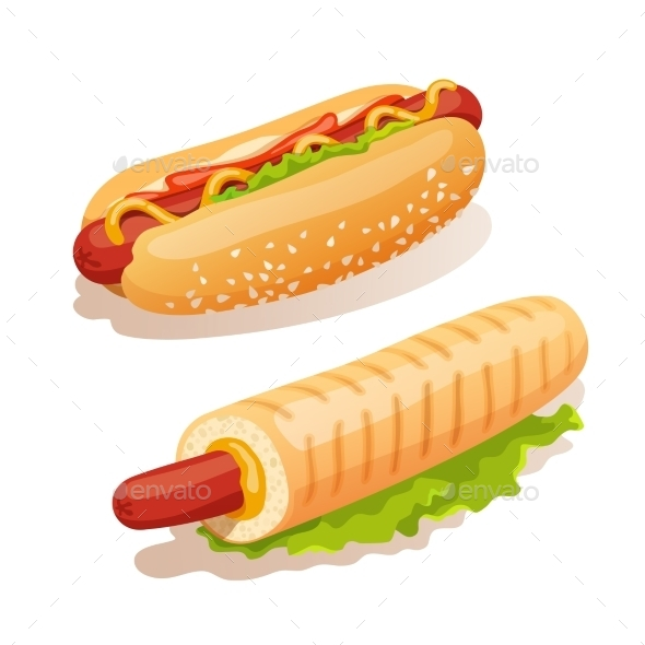 Hot Dog Set - Food Objects