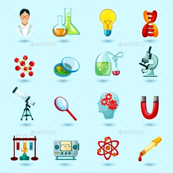 Science Icons Set - Conceptual Vectors
