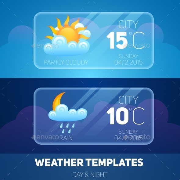 Weather Mobile Application - Nature Conceptual