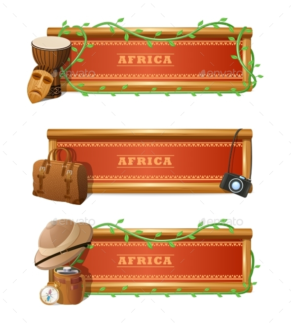 African Banner Set - Travel Conceptual