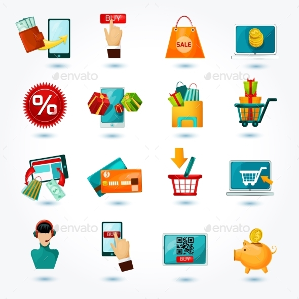 E-commerce Icons Set - Retail Commercial / Shopping