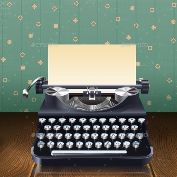 Retro Style Typewriter - Objects Vectors