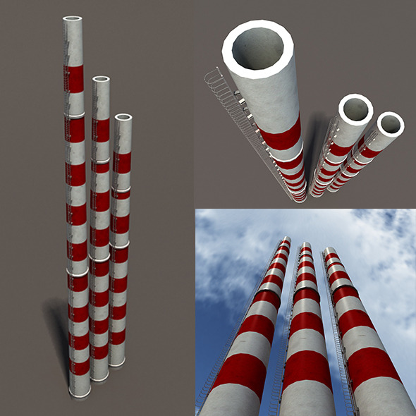 Chimney Low Poly 3d Model - 3DOcean Item for Sale