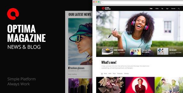 Optima - Simple Magazine WordPress Theme - Blog / Magazine WordPress