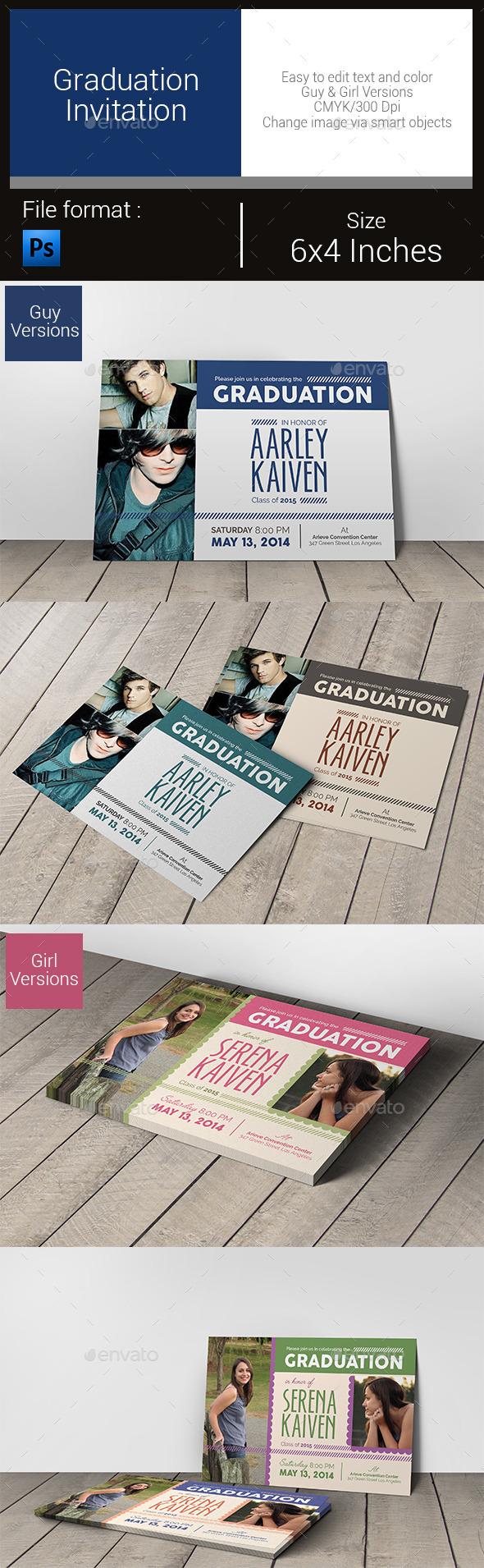 Graduation Invitation - Invitations Cards & Invites