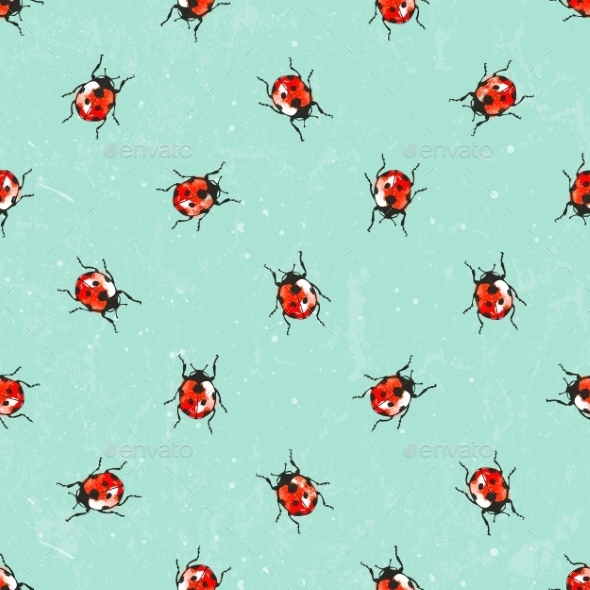 Ladybug Pattern - Patterns Decorative