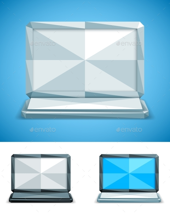 Low Poly Laptop - Computers Technology