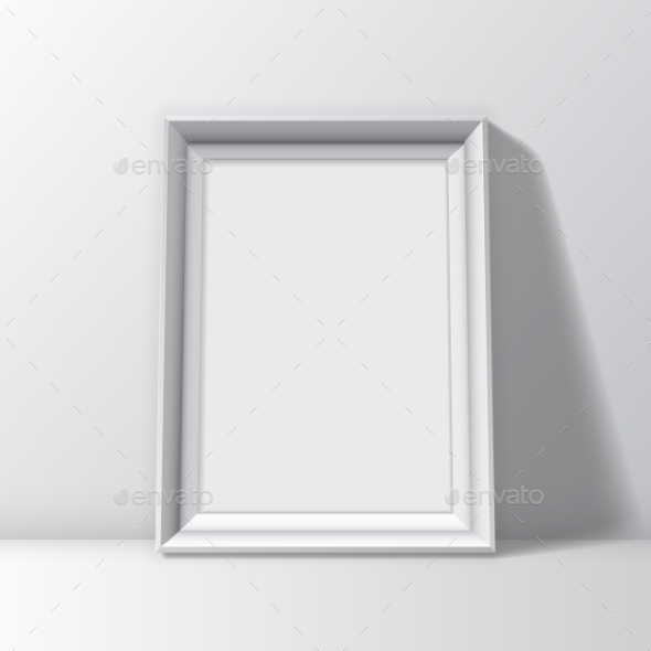 Blank White Picture Frame - Objects Vectors