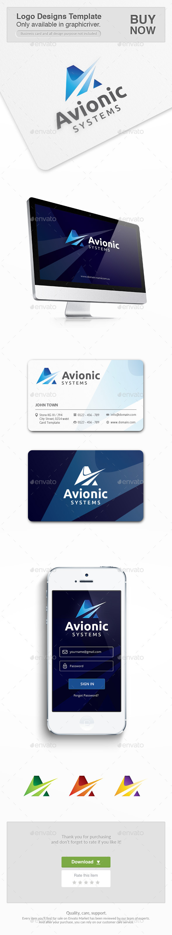 Avionic Consulting - Letters Logo Templates