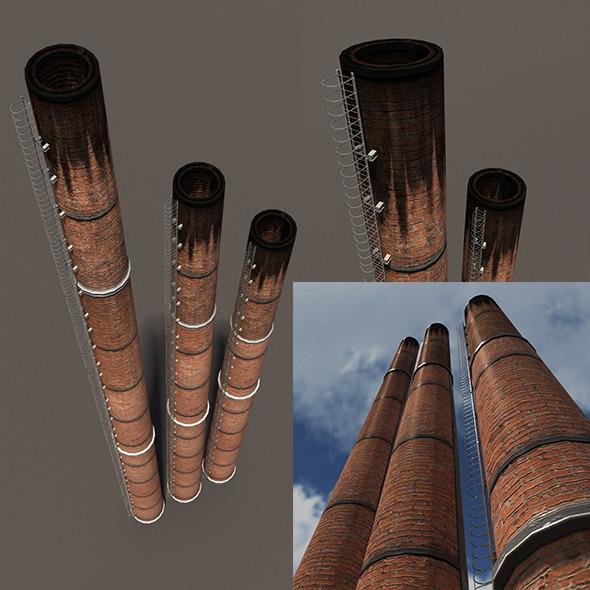 Chimney Low Poly 3d Model - 3DOcean Item for Sale