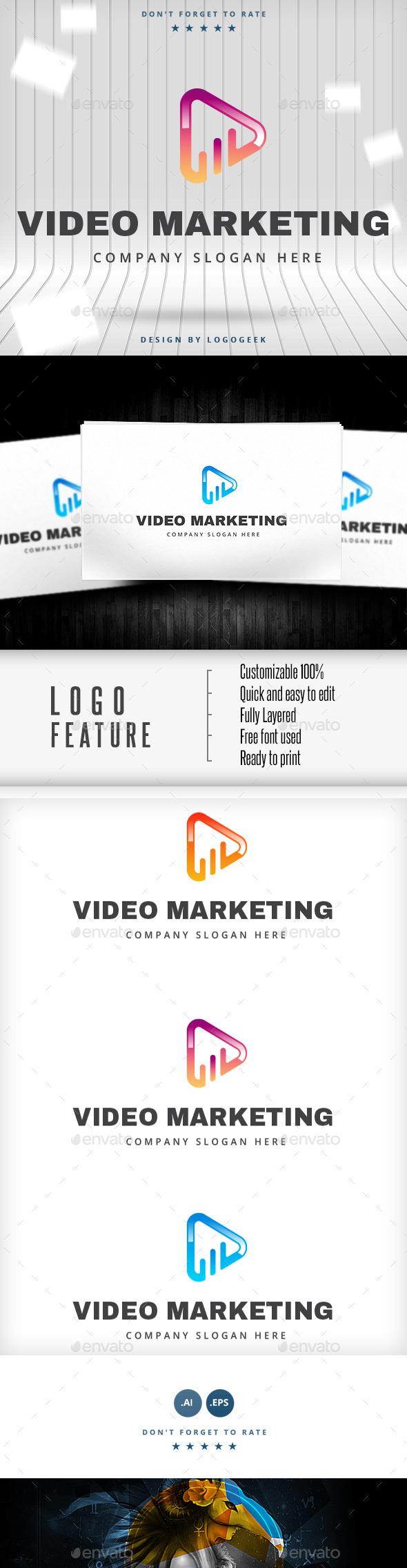 Video Marketing Logo - Objects Logo Templates