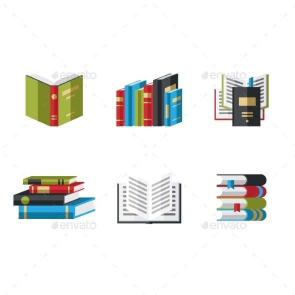 Book Icons - Web Technology