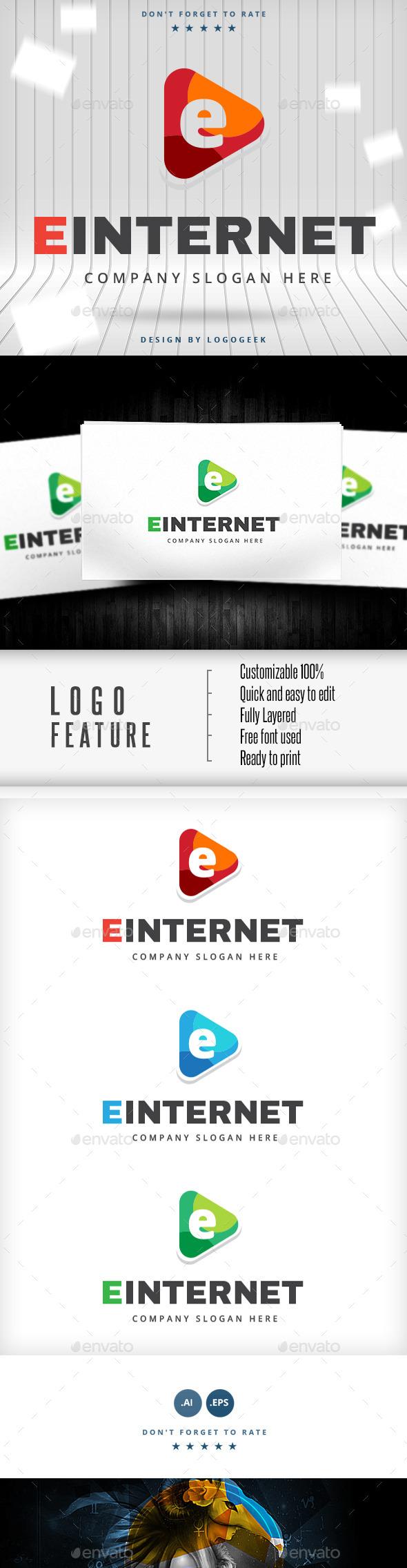 Einternet Logo - Letters Logo Templates