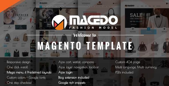 Macedo – Responsive Magento Theme
