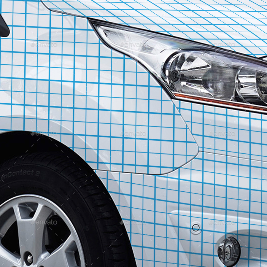 2014 Ford Transit Connect Wrap Mockup