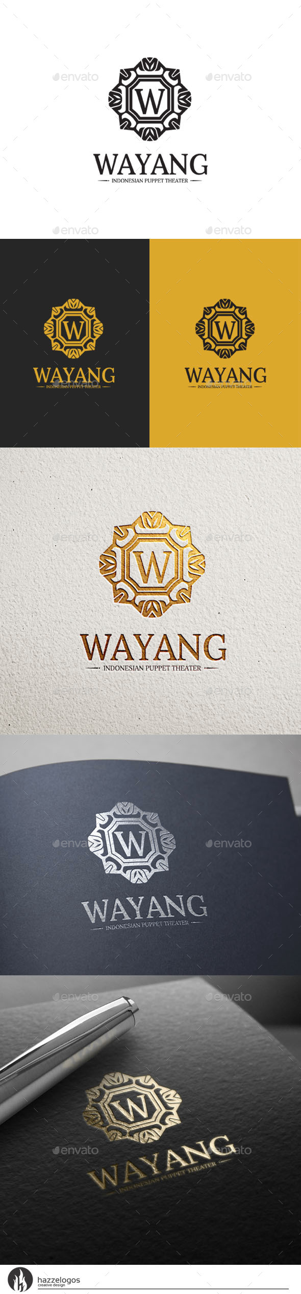 Wayang Logo - Crests Logo Templates