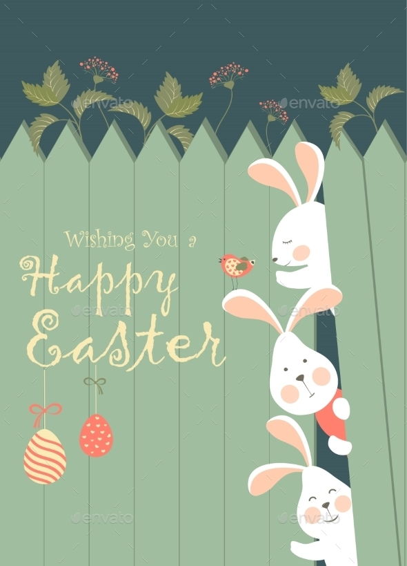 Easter Bunnies and Easter Eggs  - Seasons/Holidays Conceptual