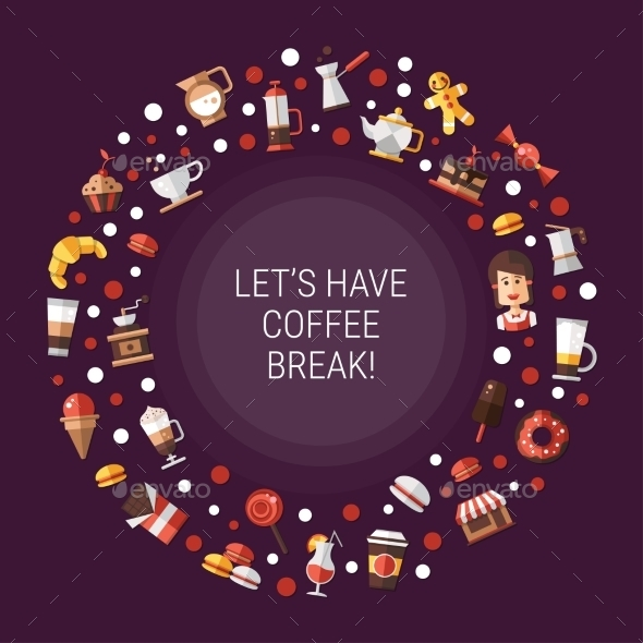Coffee Shop Background - Backgrounds Decorative