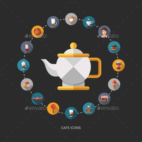 Coffee Shop Background - Miscellaneous Vectors