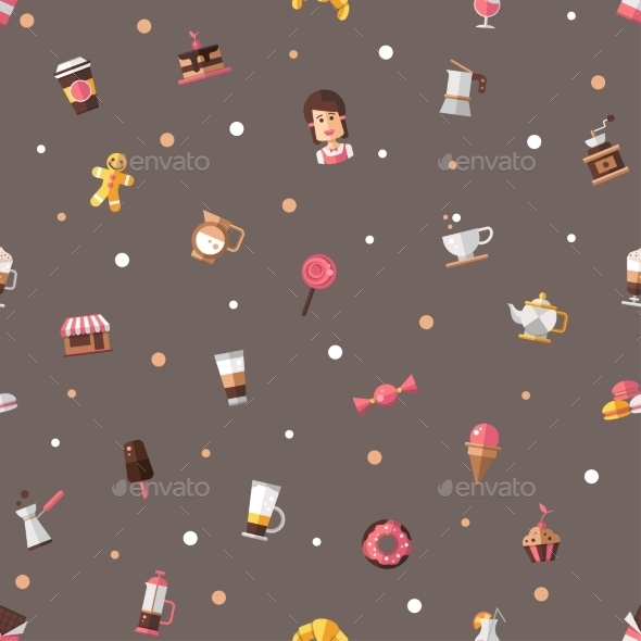 Coffee Shop Pattern - Patterns Decorative