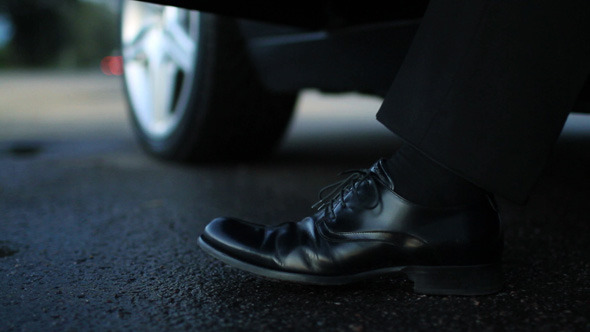 Businessman Is Getting Out Of Car By Gorodenkoffs Videohive
