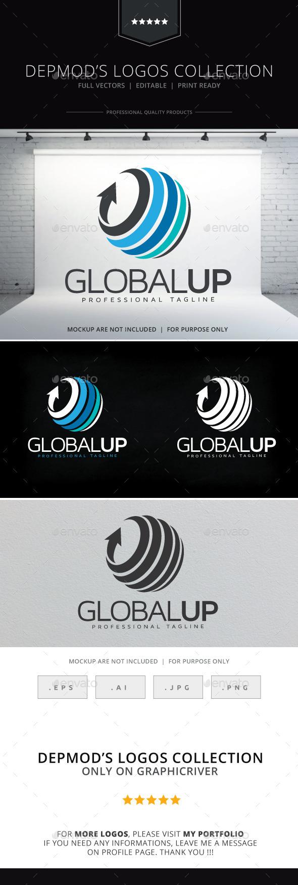 Global Up Logo - Symbols Logo Templates