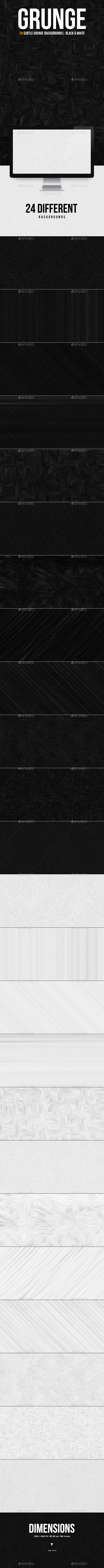 Subtle Texture Backgrounds | Black & White - Patterns Backgrounds