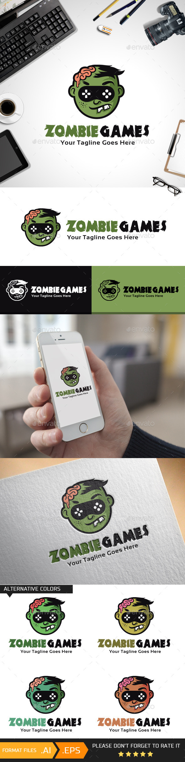 Zombie Games Logo Template - Humans Logo Templates
