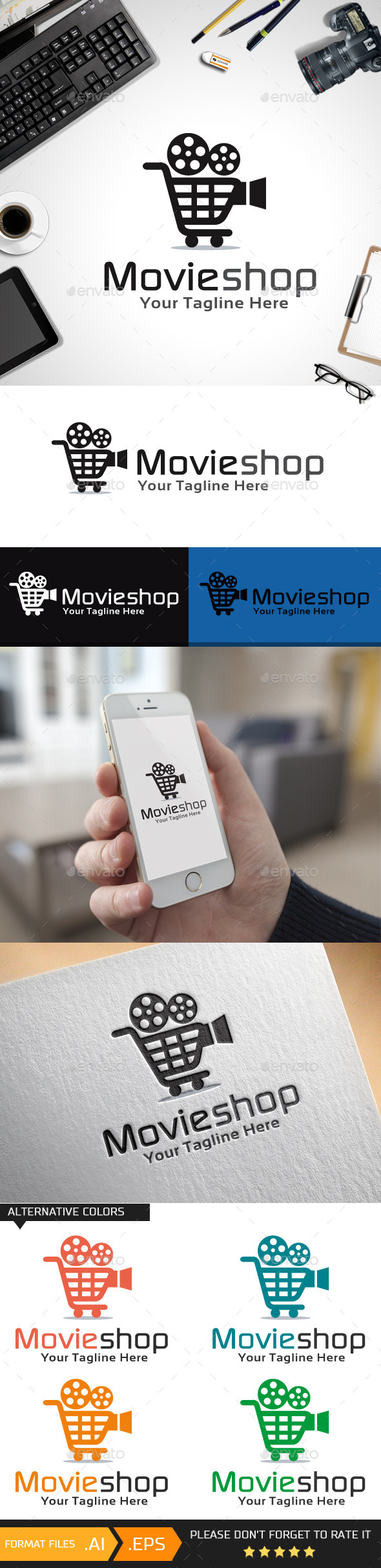 Movie Shop Logo Template - Objects Logo Templates