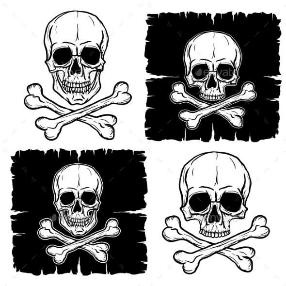 Set of Skull and Crossbones - Miscellaneous Vectors