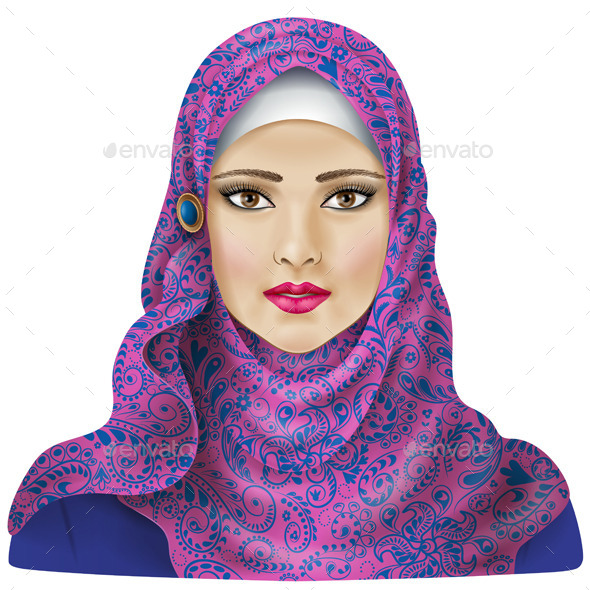 Muslim Girl in Hijab - People Characters