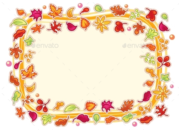 Autumn Leaves Frame - Backgrounds Decorative