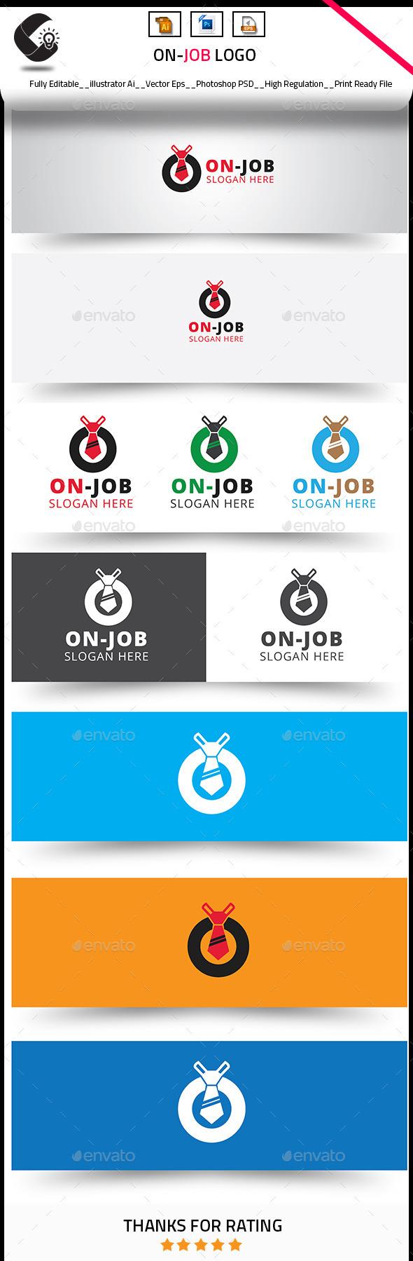 On Job Logo Templates - Objects Logo Templates