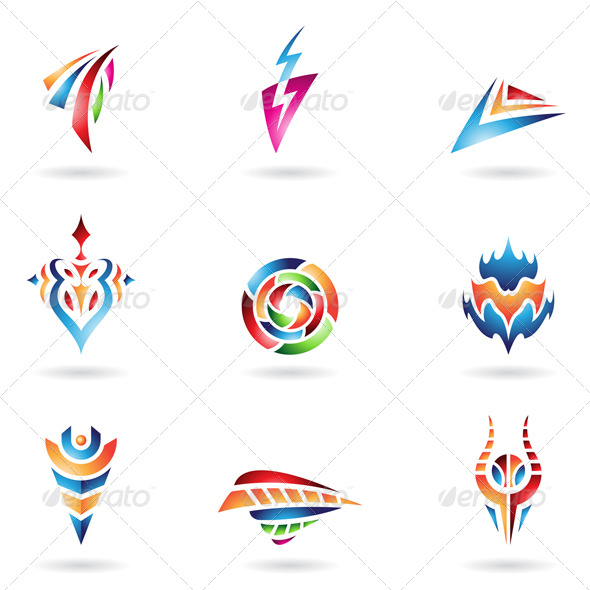 Various Abstract Shapes And Lines - Abstract Icons