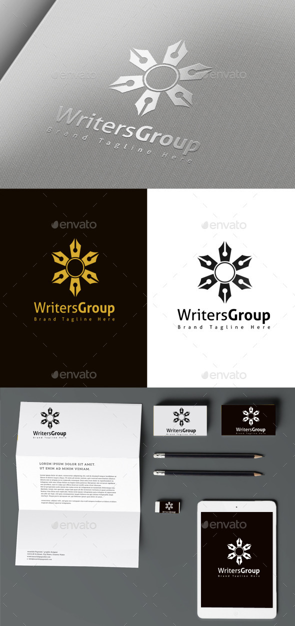 Writer Group - Objects Logo Templates