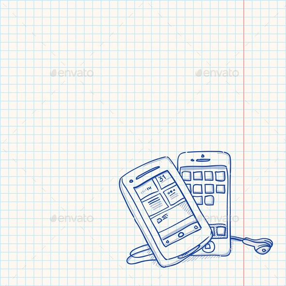 Mobile Phone Sketch - Communications Technology