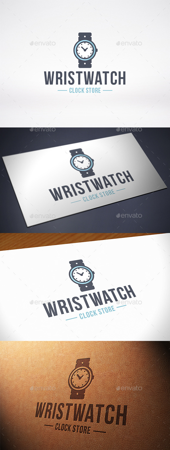 Clock Wristwatch Logo Template - Objects Logo Templates