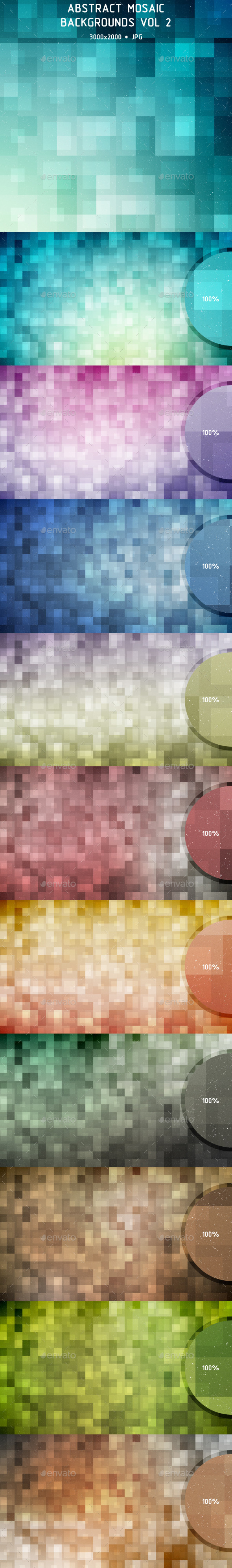 Abstract Mosaic Backgrounds Vol 2 - Backgrounds Graphics