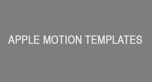 Apple Motion Templates