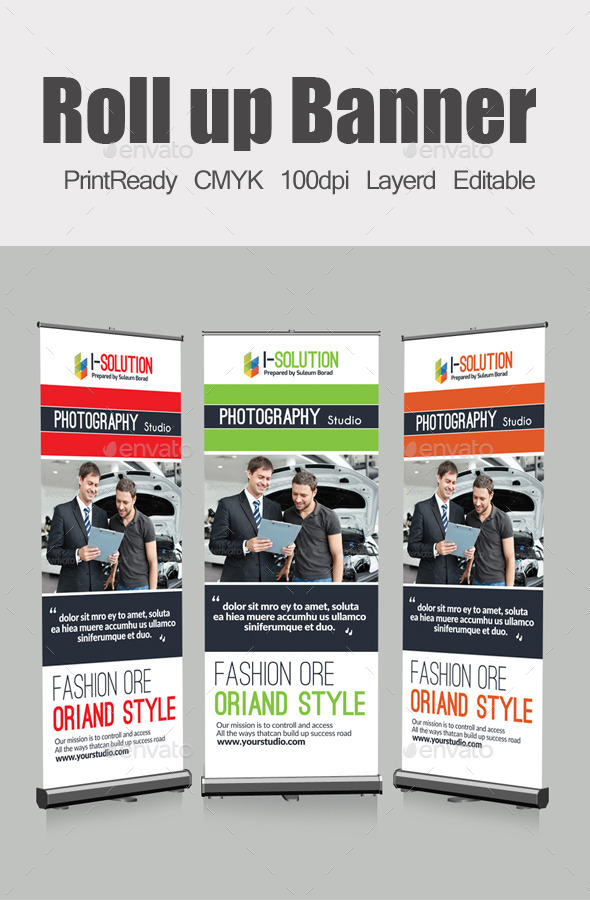 Roll Up Business Banners - Signage Print Templates