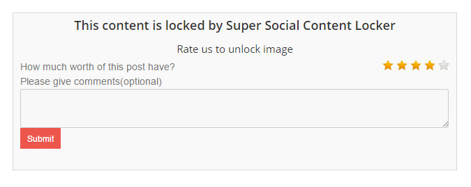 Super Social Content Locker WordPres plugin
