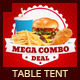 Restaurant Fast Food Table Tent - GraphicRiver Item for Sale