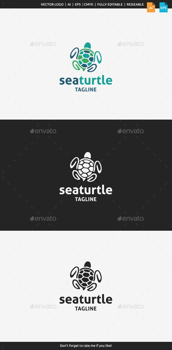 Sea Turtle Logo - Animals Logo Templates