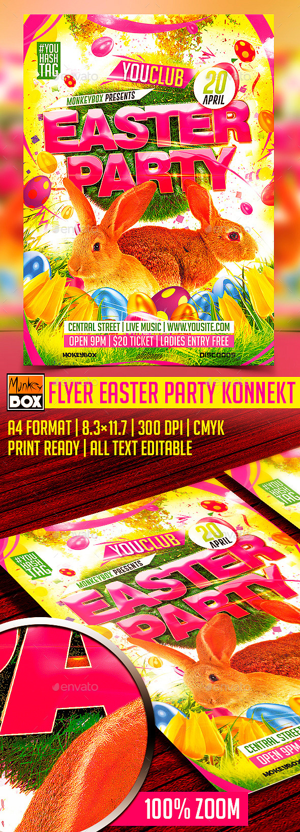 Flyer Easter Party Konnekt - Flyers Print Templates