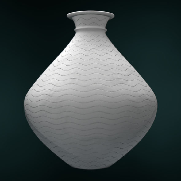Japanese Historically Authentic Vase - 3DOcean Item for Sale