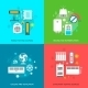 Heating and Cooling Icons Set - GraphicRiver Item for Sale