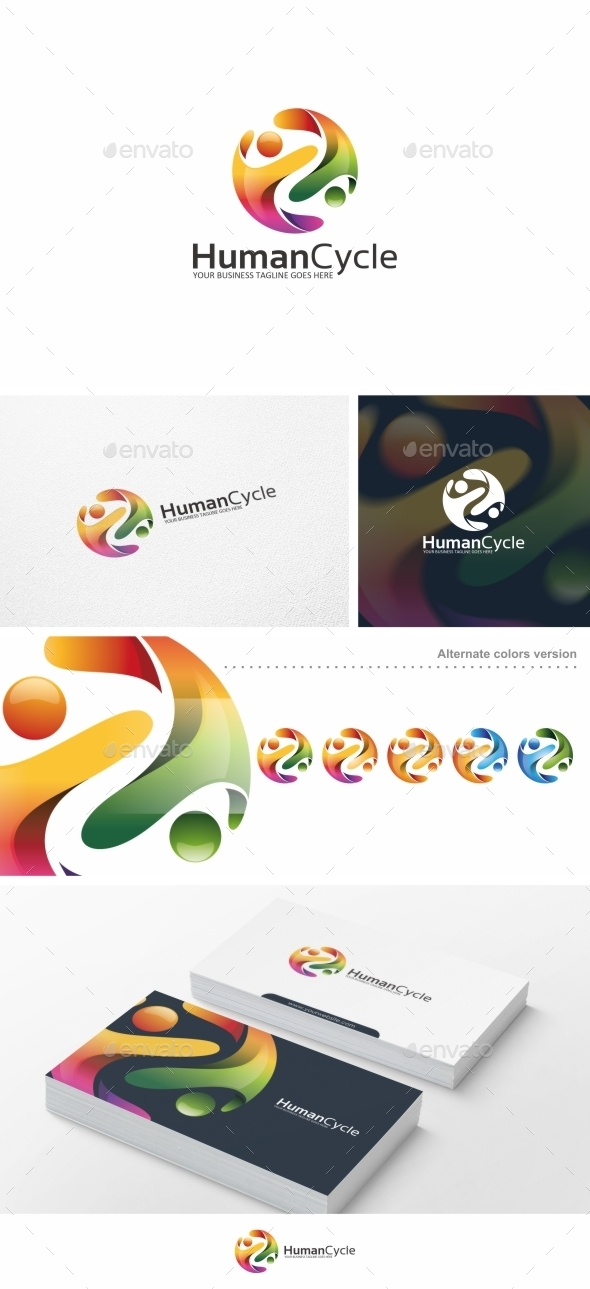 Human Cycle / People - Logo Template - Humans Logo Templates