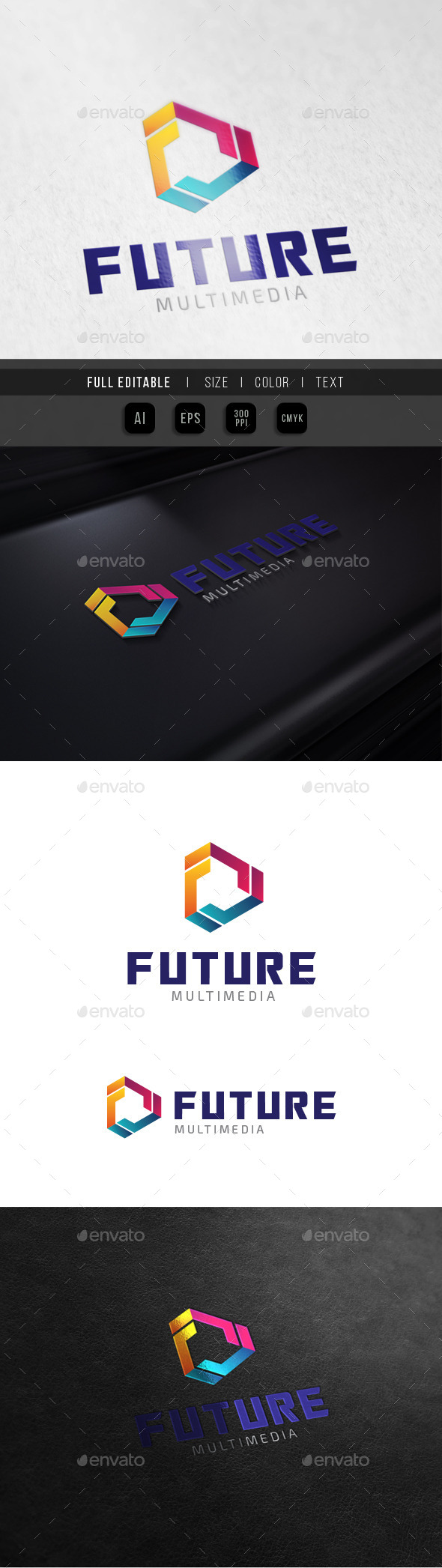 Future Technology - F Play Multimedia - Abstract Logo Templates