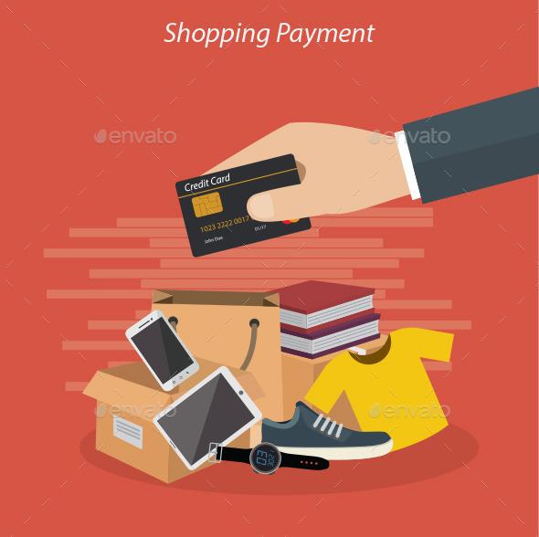 Shopping Payment - Conceptual Vectors