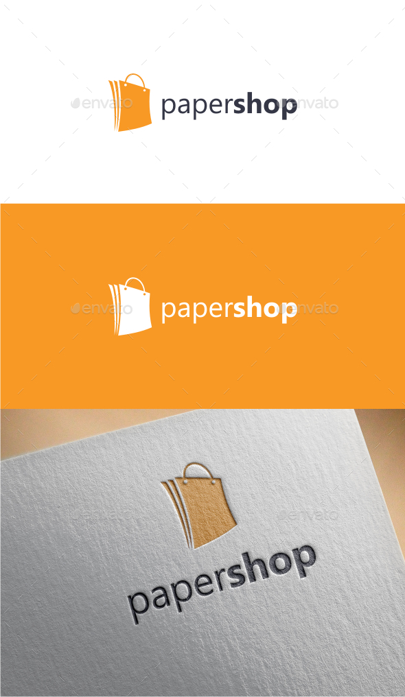 Paper Shop - Logo Template - Objects Logo Templates